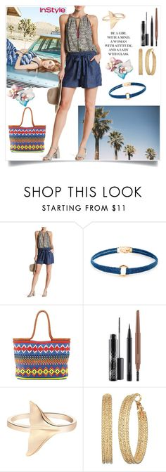 """Chambray"" by freida-adams ❤ liked on Polyvore featuring Lucky Brand, Sole Society, Tory Burch, MAC Cosmetics and GUESS"