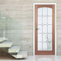 Imperial Mahogany Door with Diamond Style Safety Glass. #mahoganydoor #glazeddoors #mahoganyglazeddoors
