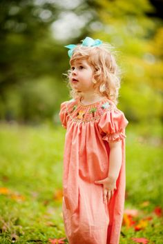 Pretty for fall in owls smock. #orientexpressed #kidsclothes