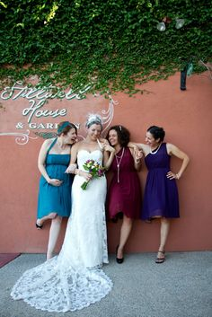 Fun with the girls on wedding day