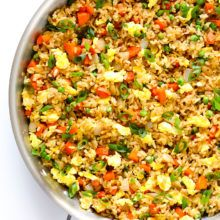 Learn how to make fried rice with this easy 15-minute recipe! It's SO flavorful and delicious, and easy to customize with your favorite add-ins.