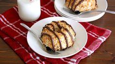 Everyone's favorite caramel-chocolate Girl Scout cookies in mini bundt cake form.