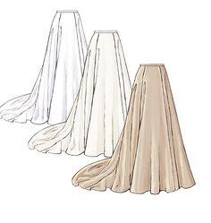Misses' Top and Skirt pattern - possible blue Astharoshe skirt pattern?