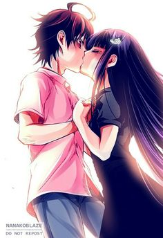 Sousei no Onmyouji, Rokuro x Benio Anime Cupples, Anime Kiss, Kawaii Anime, Anime Art, Manga Couple, Anime Love Couple, Cute Anime Couples, Sousei No Onmyouji Benio, Rokuro And Benio