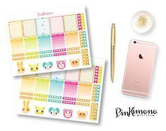 Cute Kawaii Weekly Planner Sticker Kit | Kawaii Planner Stickers | 124 Stickers #stationery #prettythings