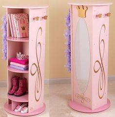 The little princess in your life is sure to love our KidKraft Princess Dress Up Unit! The Kidkraft Princess Dress Up Unit swivels and features a mirror, 5 convenient storage compartments, 4 crown-shaped knobs for hanging dress-up clothes and more. Kids Bedroom Storage, Kids Storage, Storage Ideas, Dress Up Closet, Dress Up Storage, Princess Dress Up, Princess Mirror, Trendy Kids, Little Girl Rooms