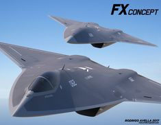 Concept for a next generation air dominance. FX sixth-generation concept fighter aircraft Supersonic Aircraft, Stealth Aircraft, Fighter Aircraft, Fighter Jets, Military Jets, Military Aircraft, Aircraft Images, Aircraft Propeller, Close Air Support