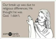 haha truth!! He might think he is but he's wrong..... he'll find out someday just how wrong he is!!!!