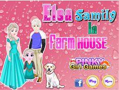 ELSA FAMILY IN FARM HOUSE http://playfrozengames.com/frozen-games/-elsa-family-in-farm-house