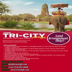7 DAYS TRI-CITY BANGKOK-SIEM REAP-SAIGON (Land Arrangement Only) Minimum of 2 persons  For more inquiries please call: Landline: (+63 2) 8 282-6848 Mobile: (+63) 918-238-9506 or Email us: info@travelph.com #Cambodia #Thailand #TravelPH #TravelWithNoWorries Tri Cities, Siem Reap, Cambodia, Bangkok, Thailand, Night, City, Travel, Viajes