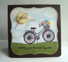 hero arts bicycle stamps and cards using - Google Search