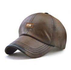61e14bb1865  JAMONT  Men Baseball Cap Winter Snapback Hat PU Leather Warm Hats Male  Fashion Caps Casquette