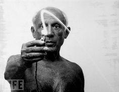 Light painting de Picasso.