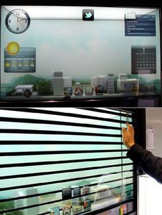 Samsung Smart Window. I'm so getting one of these.