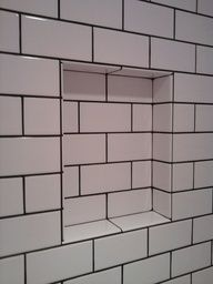 White Tiles With Grey Grout Black White Subway Tile With Grout Bathroom Ideas Pinterest