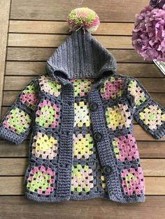 Baby cardigan # handmade # knitting pattern # crochet # cardigan # cardigan – The Best Ideas Gilet Crochet, Crochet Baby Cardigan, Knit Baby Dress, Crochet Baby Clothes, Crochet Jacket, Crochet Granny, Knitted Baby Hats, Booties Crochet, Crochet Hats