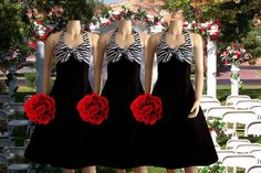 Hey, I found this really awesome Etsy listing at http://www.etsy.com/listing/116572119/two-tone-zebra-bridesmaid-dresses