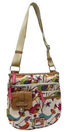 Lily Bloom Camilla Crossbody Handbag - Might have to try making a similar one.Outside pockets bag -cute bird print and lots of pocketsMini Pocket Source by carolkolodyI got one nearly exactly like this today! Sacs Tote Bags, Tote Purse, Crossbody Bag, Sling Bags, Hobo Bag, Patchwork Bags, Quilted Bag, Diy Bags Purses, Purses And Handbags