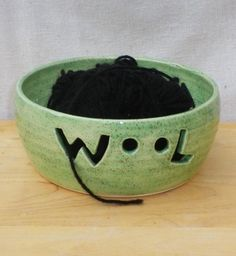 Yarn bowl knitting or crochet wool hand thrown