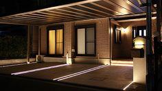 照明、植栽等 B Line, Outdoor Lighting, Outdoor Decor, Arch, Garage Doors, Exterior, Brave, Home Decor, Garages