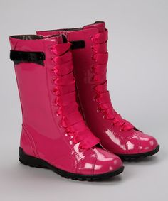 {Fuchsia Lace-Up Boot} My daughter would love these....