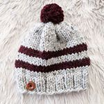 New pattern up on the blog The Lake Erie Ski Hat Super quick and easy knit project for the weekend Link to free pattern in bio Yarn lionbrandyarn Woolease Thick and Quick