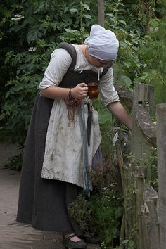 Maybe this should be my gardening outfit instead of crocs and sweat pants Cottage Garden, Kentwell 1578