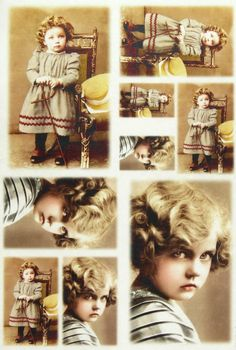 Ricepaper Decoupage paper, Scrapbooking Sheets Old Pictures Little Girl