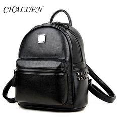 Fashion WOMEN BACKPACK for teenage Girls School bags 2016 New Korean PU leather Backpacks Ladies Black Backpacks Female College  #bag #backpack #YLEY #shoulderbags #highschool #fashion #bagshop #Happy4Sales #handbags #WomenWallets #L09582 #kids