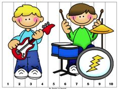 Rockin' the Counting Puzzles Common Core Hollywood Theme Classroom, Classroom Themes, Counting Puzzles, Music Lessons For Kids, Dance Themes, Teaching Music, Elementary Schools, Preschool, Activities