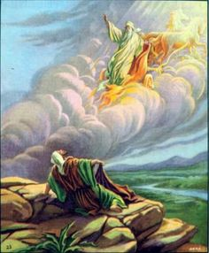 Elijah being taken by chariot of fire!