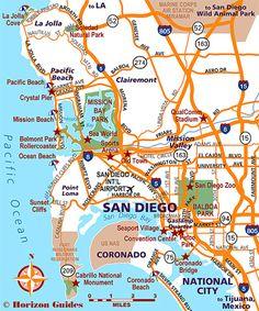 Coronado CA Map | US - California | Pinterest | Coronado beach ...