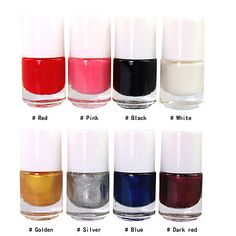 8 Color Stamp Nail Polish for Nail Art Printing(5ml,1PCS,Assorted Colors) – USD $ 1.99