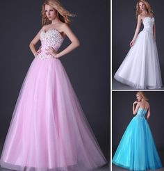 Charming Beaded Tulle Evening/Formal/Ball gown/Party/Pageant/Prom Dresses Long #GK #BallGown #Formal