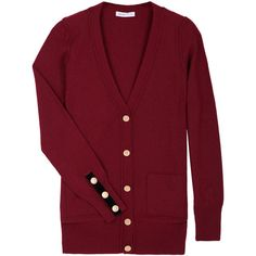Burgundy Cashmere Mix Sailor Cardigan by See by Chloe ($175) ❤ liked on Polyvore featuring tops, cardigans, sweaters, outerwear, knitwear, women's tops, womenswear, see by chloé, sailor cardigan and cashmere cardigan