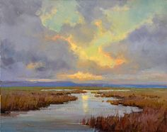 Baylands At Sunset Painting by Tonya Zenin