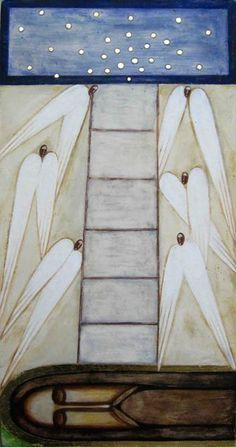 Jacob's Ladder by Natalya Rusetska___ Collection - ICONART Contemporary Sacred Art Gallery Religious Icons, Religious Art, Jacob's Ladder, Jesus Art, Best Icons, Great Paintings, Art Icon, True Art, Orthodox Icons