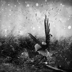My wings are broken by Mirela Pindjak #conceptualphotography #photography