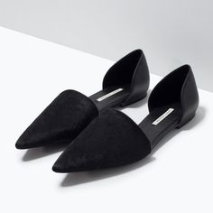 LEATHER D'ORSAY SHOES from Zara