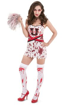 Zombie Cheerleader Costume | Halloween costume contest, Homemade ...