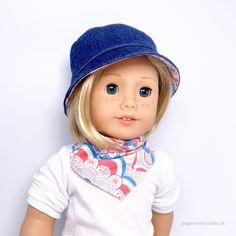 Puppenkleidung grau Mütze u Schal neu süß Winter Kostüm Hut Halstuch Puppenmode