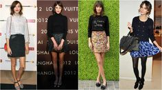 Alexa chung mini Alexa Chung, Sequin Skirt, Vogue, Sequins, Mini, Skirts, Natural, Fashion, Moda