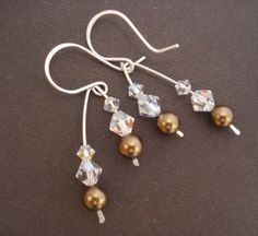Life Collection  Crystal Pearl Sterling Silver by beadinggem, $22.00