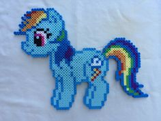 Rainbow Dash - My Little Pony Friendship is Magic perler beads by PrettyPixelations