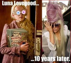 Luna Lovegood ten years later.