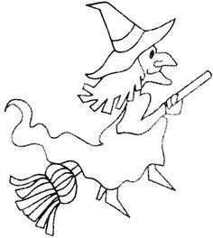 bild zum ausmalen hexe 05   malvorlagen halloween