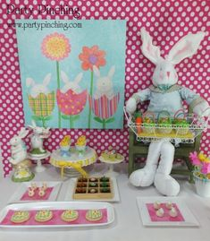 Easter dessert ideas, Easter dessert table, Easter treats for kids, easy Easter desserts, Easter cupcakes, Easter cookies, Easter bunny party