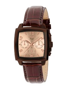 Invicta Watches Womens Angel Brown Leather Watch - the band and coloring