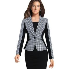 Work jackets for women slim office blazer ladies jacket suit long sleeves single button vogue blazers . work jackets for women Blazer Jackets For Women, Work Jackets, Blazers For Women, Suits For Women, Clothes For Women, Women Blazer, Female Blazer, Ladies Jackets, Ladies Blazers