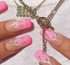 41 Trendy Ideas For Nails Fake Matte Acrylics Summer Acrylic Nails, Best Acrylic Nails, Aycrlic Nails, Hair And Nails, Coffin Nails, Pink Coffin, Nail Swag, Fantastic Nails, Nagel Tattoo